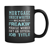 Mortgage Underwriter Black Mug