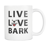Live Love Bark White Mug
