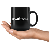 #waitress 11oz Black Mug