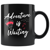 Adventure Is Waiting 11oz Black Mug