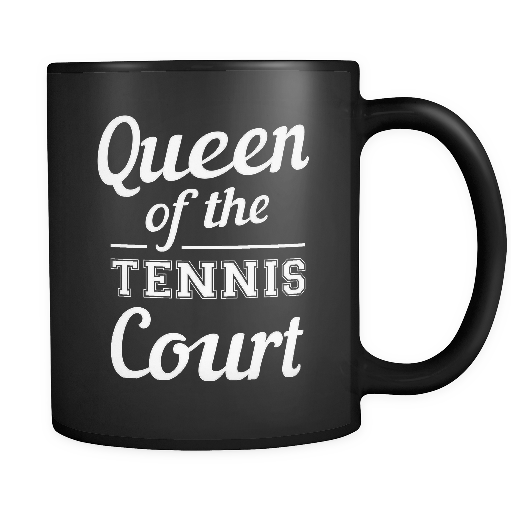 Queen Of The Tennis Court Mug in Black