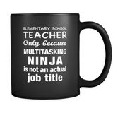 Elementary School Teacher Black Mug