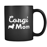 Corgi Mom Black Mug