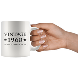 Vintage 1960 Aged To Perfection White Mug