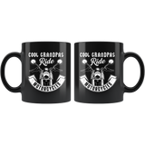 Cool Grandpas Ride Motorcycles  11oz Black Mug