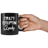 Crazy Coupon Lady 11oz Black Mug