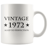 Vintage 1972 Aged To Perfection White Mug