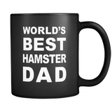 World's Best Hamster Dad Black Mug