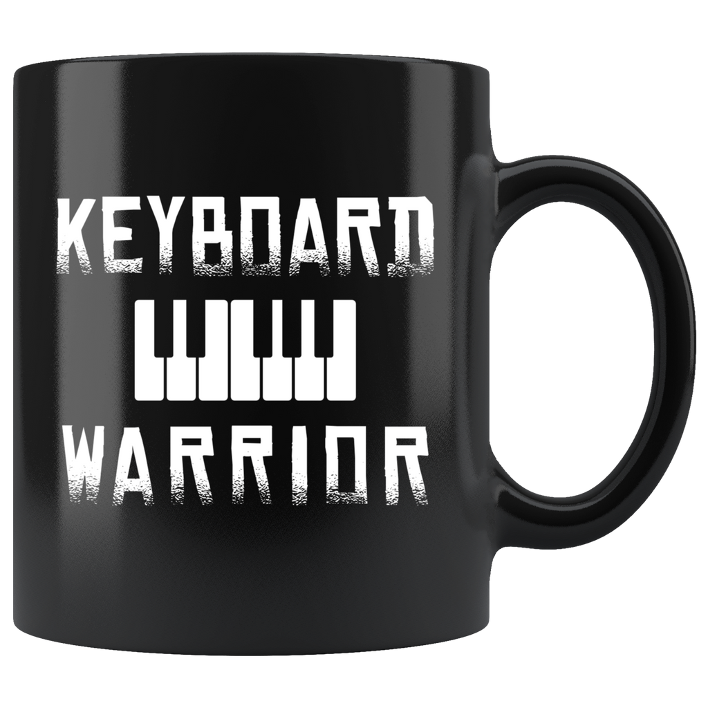 Keyboard Warrior 11oz Black Mug