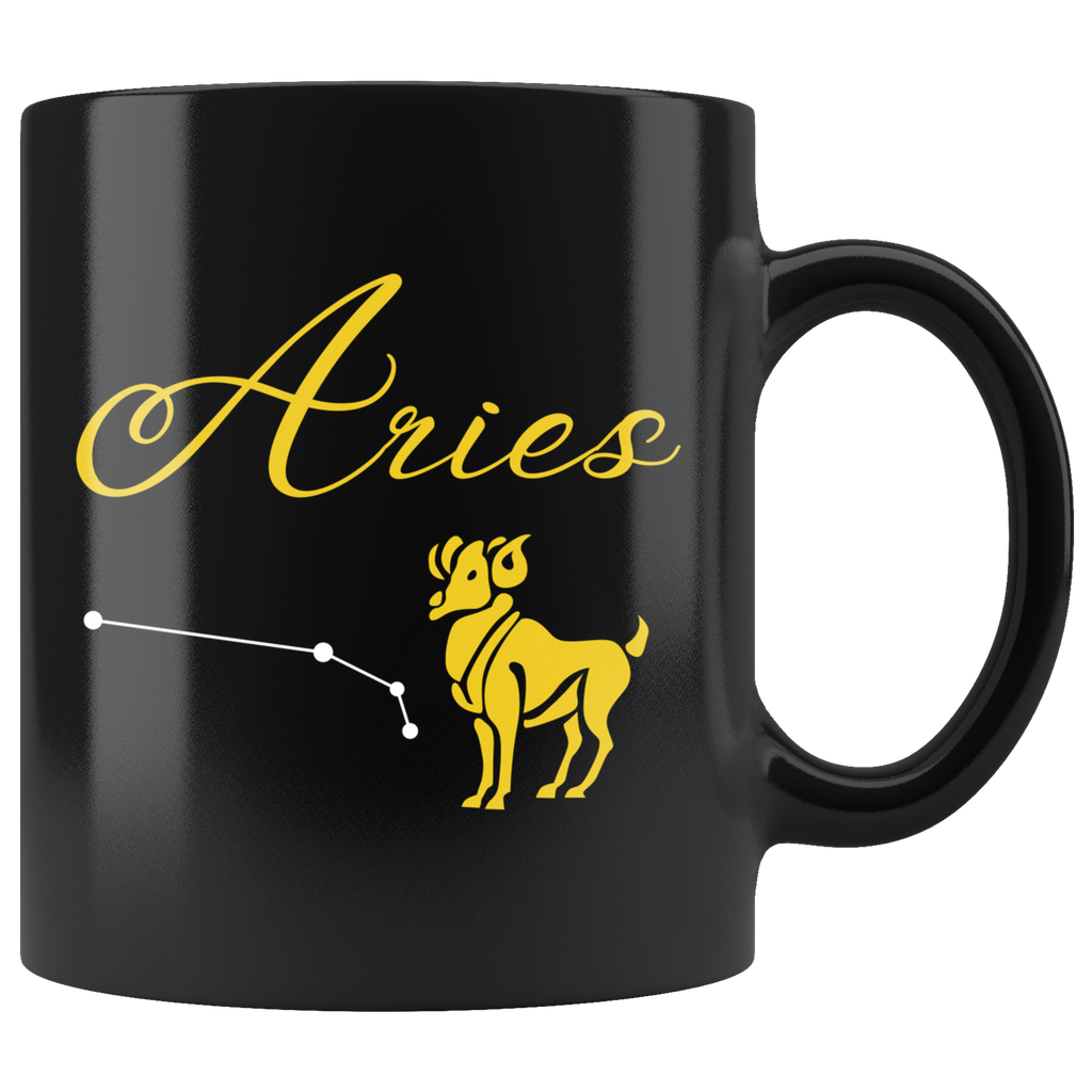 Aries 11oz Black Mug