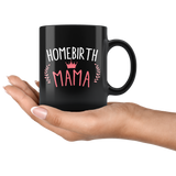 Homebirth Mama 11oz Black Mug