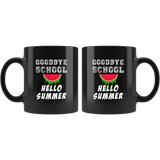 Goodbye School Hello Summer 11oz Black Mug