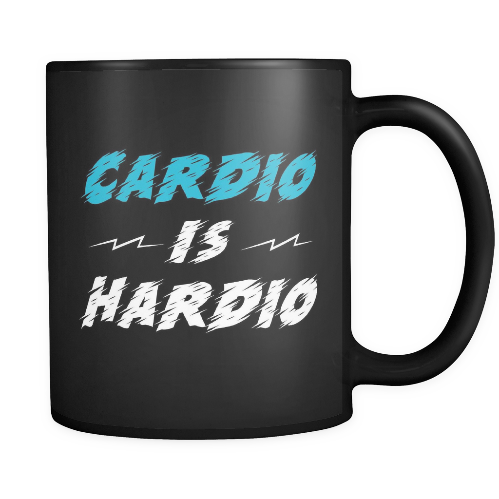 Cardio Is Hardio Mug in Black