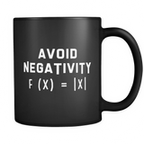Avoid Negativity Math Equation Black Mug