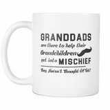 Granddads Are There To Help Their Grandchildren White Mug