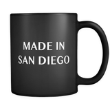 Made In San Diego Black Mug