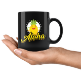 Aloha 11oz Black Coffee Mug