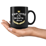 Employee Of The Month Award 11oz Black Mug