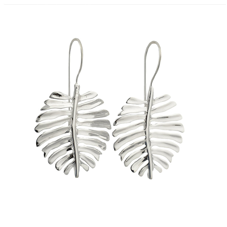 Earring Monstera Silver Plated