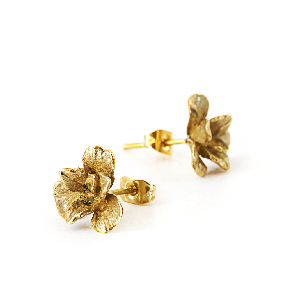 Earring Orchid Stud Gold
