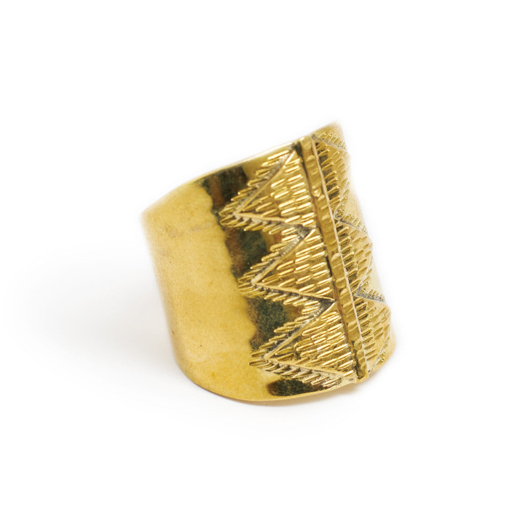 Ring Boho Tribal Triangle front