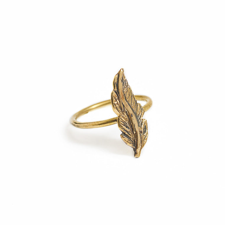 Ring forest Feather gold