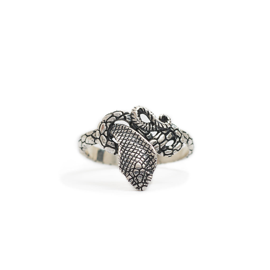 Ring King Cobra Silver 925 Front