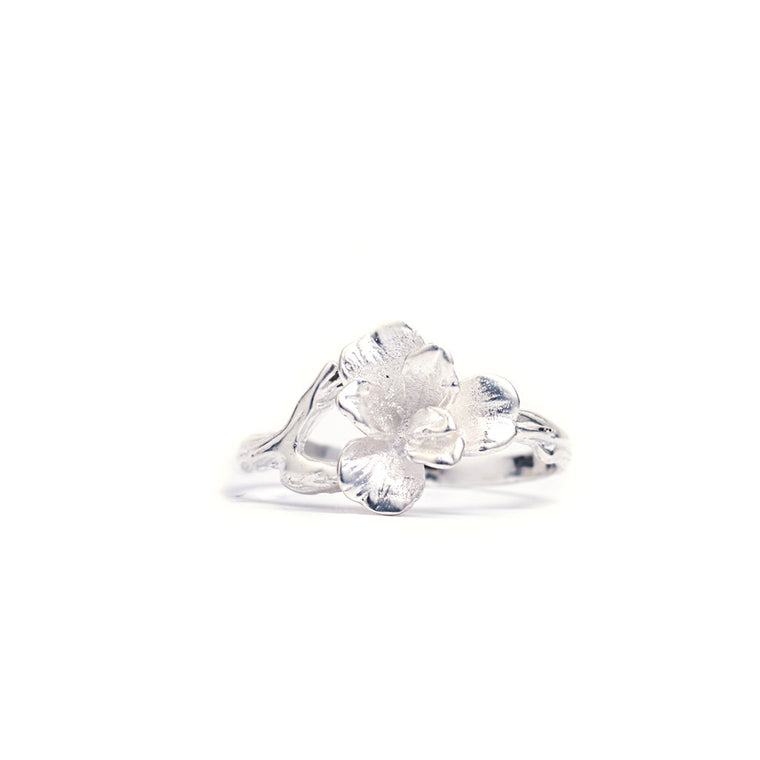Ring Orchid Silver Front