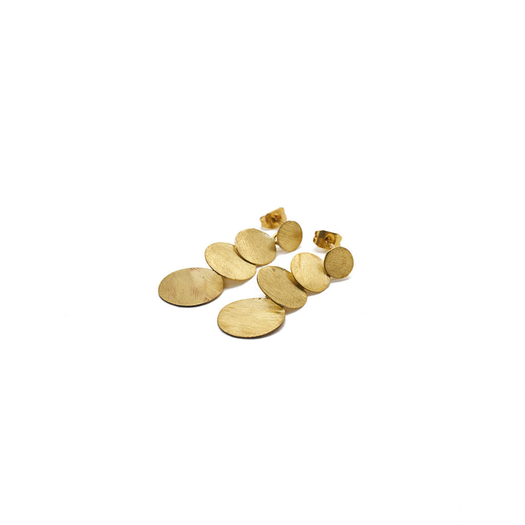 earring 4 round gold