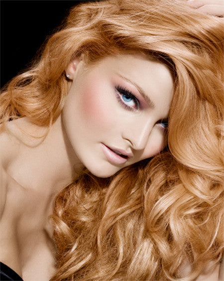 Gorgeous blonde colors hair extensions