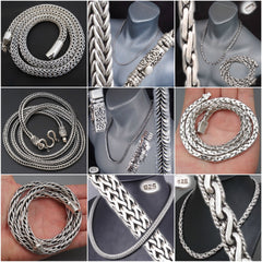 Woven/braided necklaces