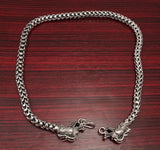 HUGE HEAVY CHUNKY DRAGON SCALE SNAKE 925 STERLING SOLID SILVER MENS NECKLACE CHAIN