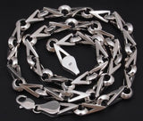 heavy triangle baraka 925 sterling solid silver mens necklace chain