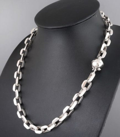 HUGE HEAVY LINKS CLASSIC BARAKA CHAIN 925 STERLING SILVER MENS NECKLACE