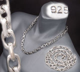 HUGE HEAVY LINKS BARAKA 925 STERLING SOLID SILVER MENS NECKLACE CHAIN