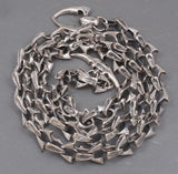 HUGE HEAVY SHARK BARAKA 925 STERLING SILVER MENS NECKLACE CHAIN