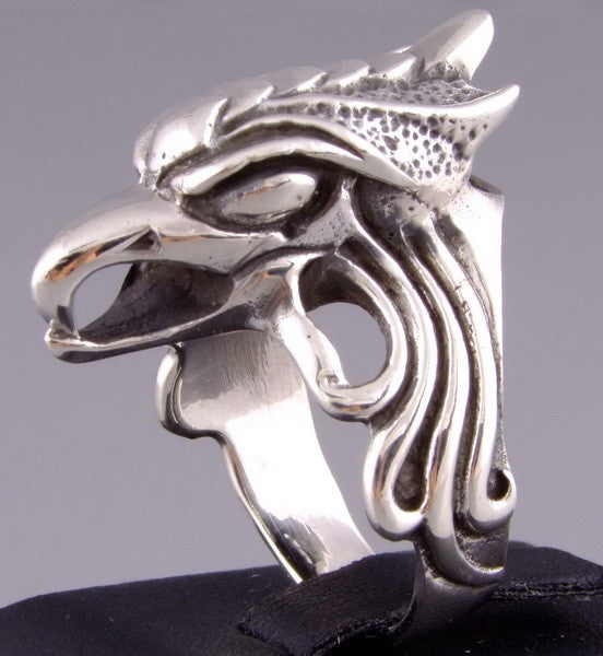 13g rising phoenix bird ring
