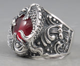 33g koi fish ruby ring 925 sterling silver