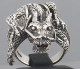 HUGE HEAVY DRAGON 925 STERLING SOLID SILVER MENS RING