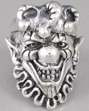 26g joker clown ring 925 sterling silver