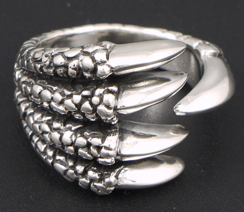 DRAGON CROCODILE CLAW 925 STERLING SOLID SILVER MENS RING