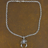 huge tribal scorpion bali chain 925 sterling silver mens necklace