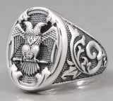 14.5g german imperial eagle ring 925 sterling silver