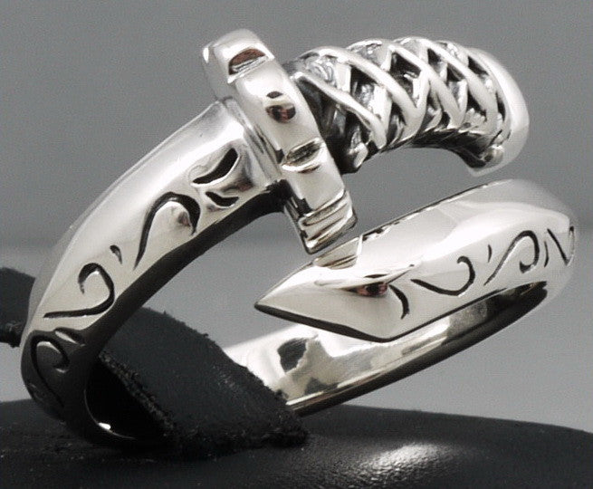 9g katana sword ring 925 sterling silver