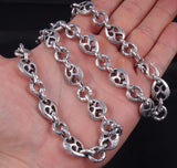 heavy dragon links 925 sterling solid silver mens necklace chain
