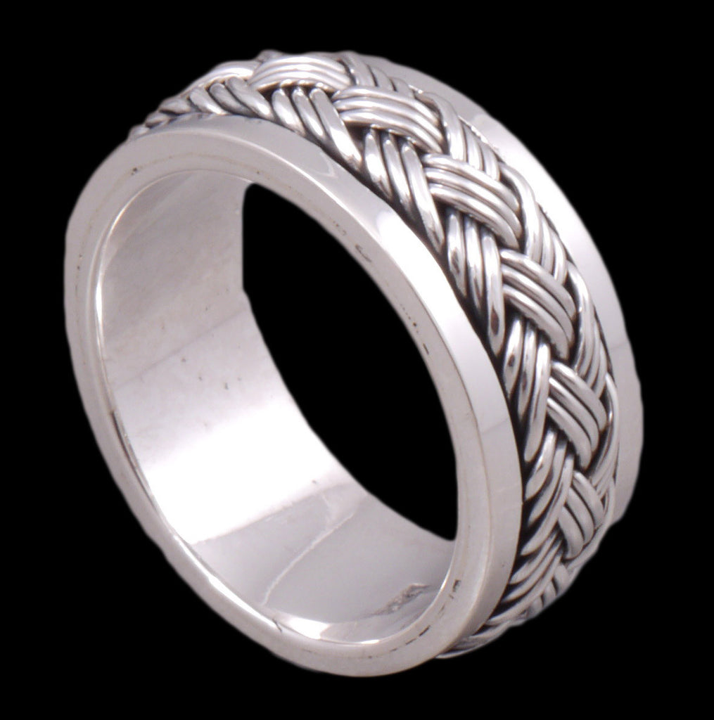 9.5g spin ring 925 sterling silver c1