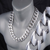 HEAVY CLASSIC CURB CUBAN CHAIN HEAVY LINKS 925 STERLING SOLID SILVER MENS NECKLACE