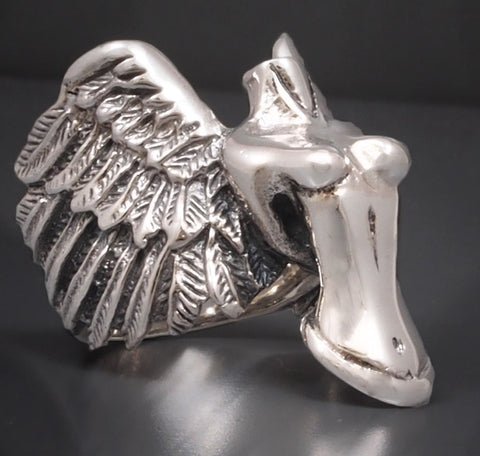 19.5g winged victory angel ring 925 sterling silver