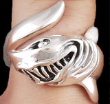 10g huge white shark ring