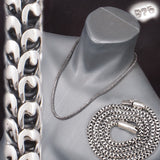DRAGON SCALE HANDMADE MENS NECKLACE 925 STERLING SOLID SILVER